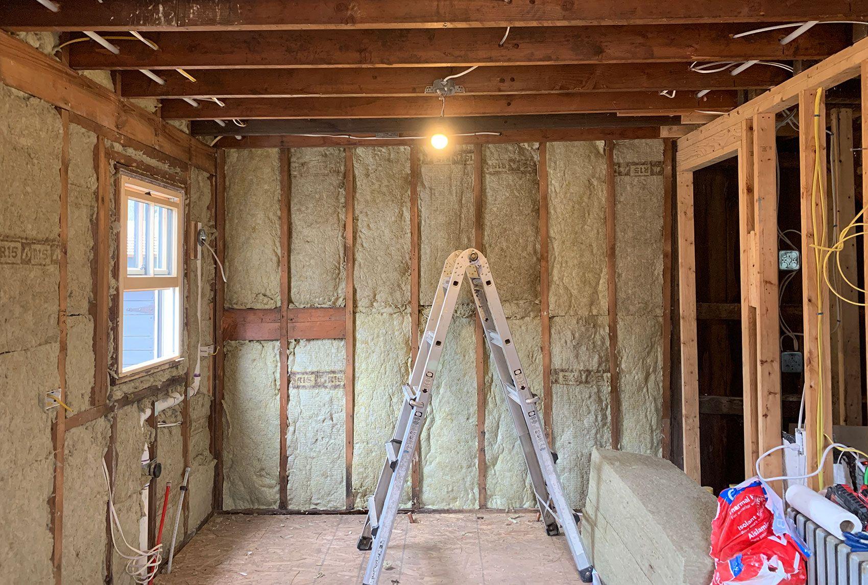 Bluestone Cottage Kitchen Insulation Walls And Floors Daniel Kanter In 2020 Bluestone Diy Insulation Cottage Kitchen