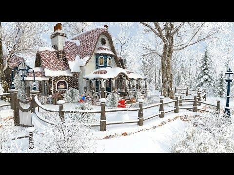 Winter Cottage 1 Hour Christmas Snowfall Screensaver 4k Youtube Screen Savers Snowfall Live Wallpapers