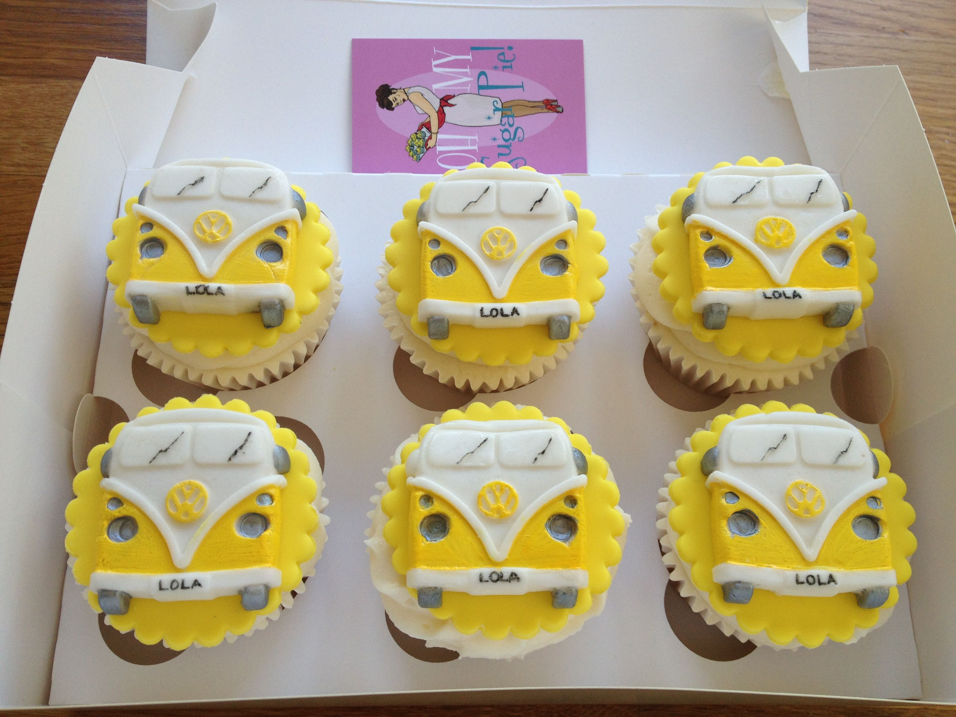 yellow vw bus cupcakes vw k fer bus pinterest. Black Bedroom Furniture Sets. Home Design Ideas
