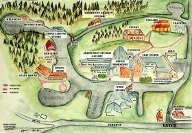 Facility Rental Arts Crafts House Art School Watercolor Map
