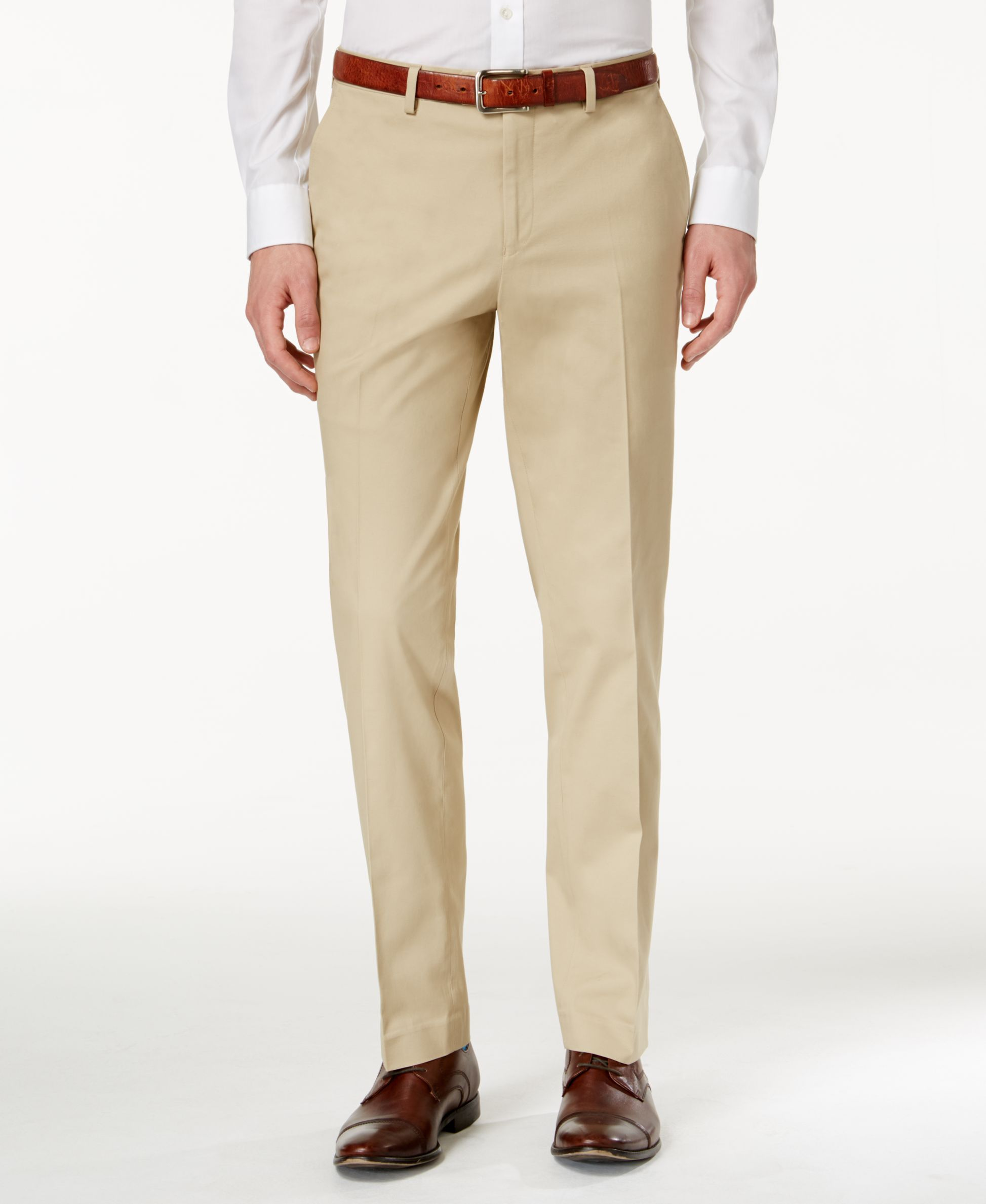 Bar Iii Men's Slim-Fit Tan Stretch Pants, Only at Macy's ...