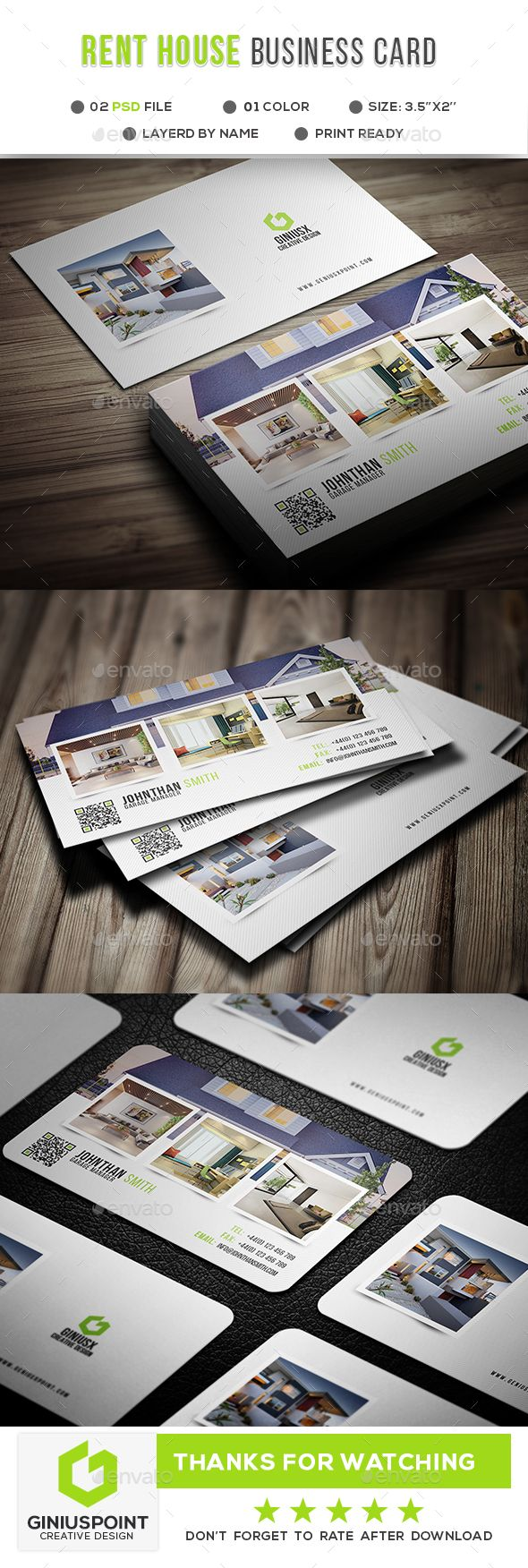 Rent House Business Card   Business cards, Corporate business and ...