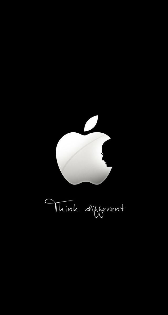 Apple Think Different Quote iPhone Wallpaper