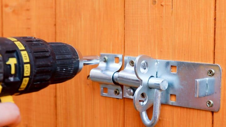 How to fit a shed lock shed wood drill bits lost keys