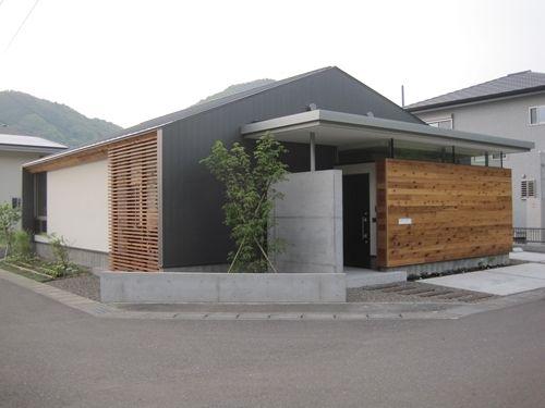 Concrete wood metal contemporan fasade pinterest - Maison wooden concrete nestor sandbank ...