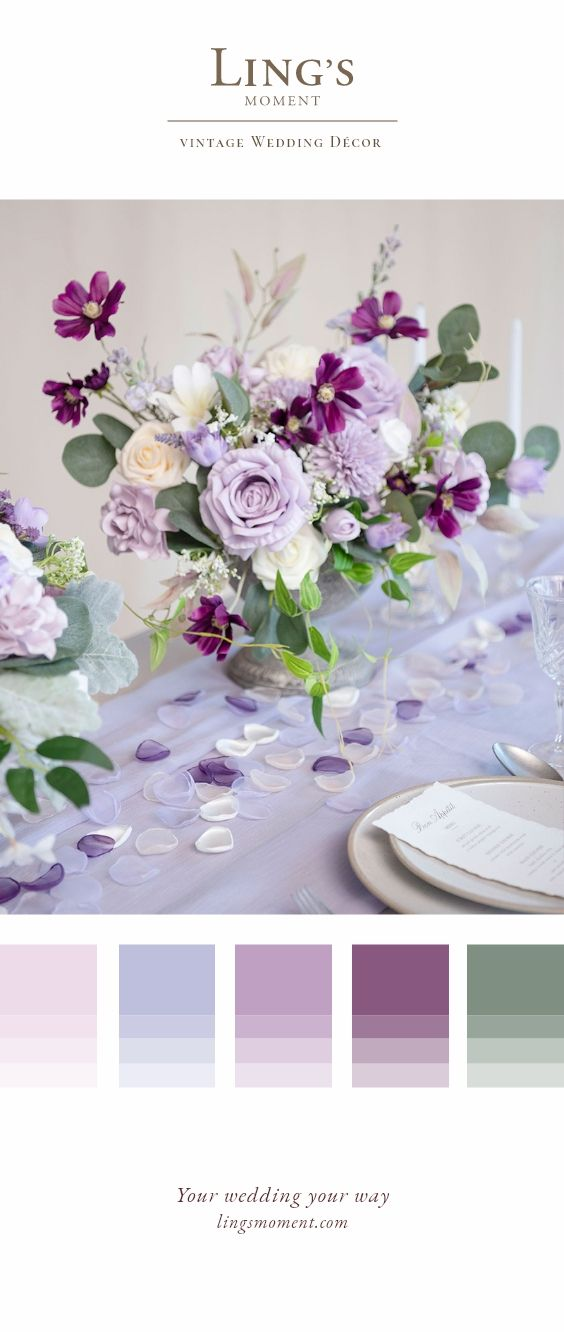 Basic Purples Flowers Box Set - 5 Styles