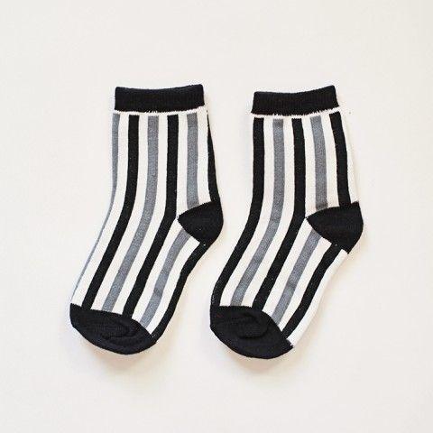 Black And White Stripe Sock Striped Socks Socks White Stripe