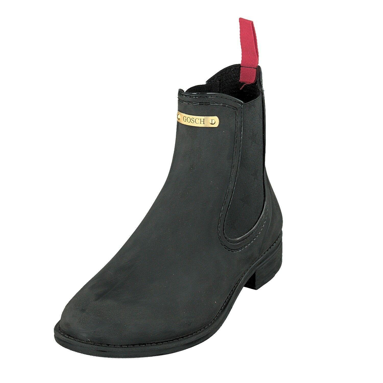 Gosch Shoes Sylt Damen Schuhe Gummi Chelsea Boots Stiefel 7105-310-9 Schwarz