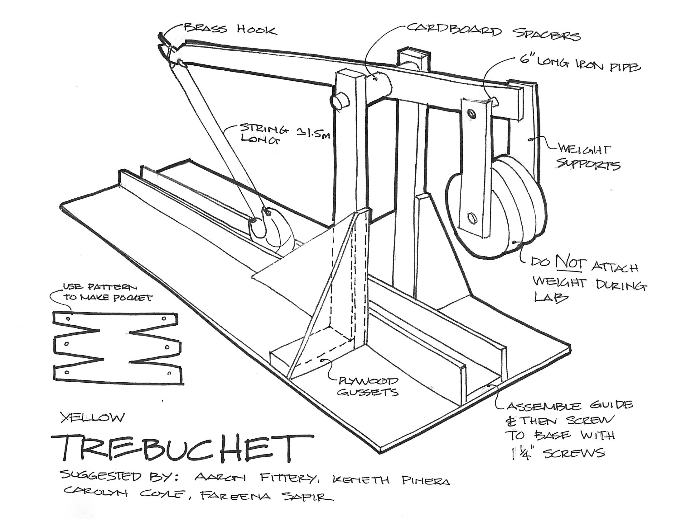 Trebuchet plans google search diy crafts pinterest search for Catapult design plans for physics