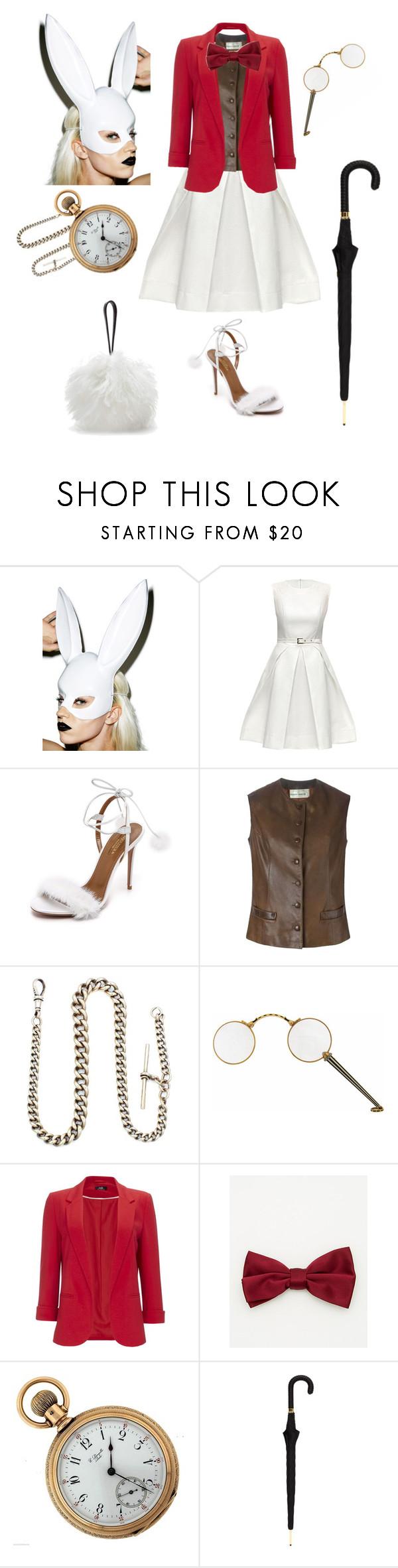 """White Rabbit Halloween"" by kjmazeltov ❤ liked on Polyvore featuring Leg Avenue, Lattori, Aquazzura, Pierre Cardin, Wallis, Le Chateau, Alexander McQueen and Tanya Taylor"