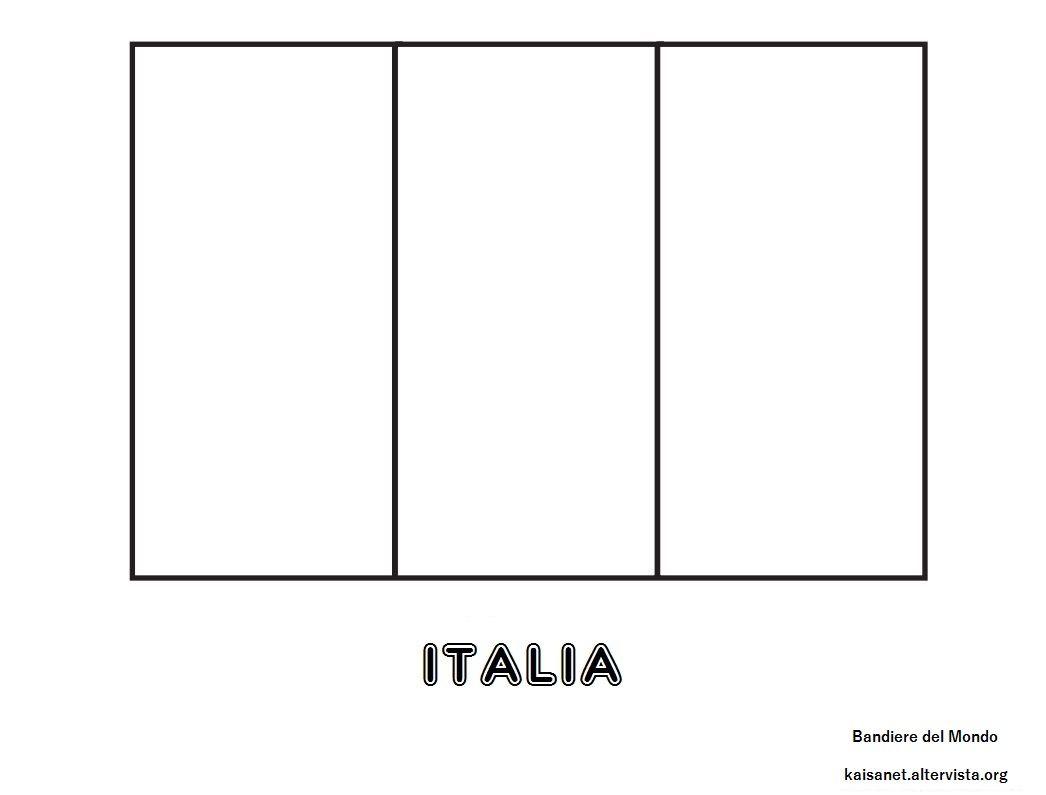 Bandiera Italia Da Colorare Xboxlive12 Mesi Bandiera