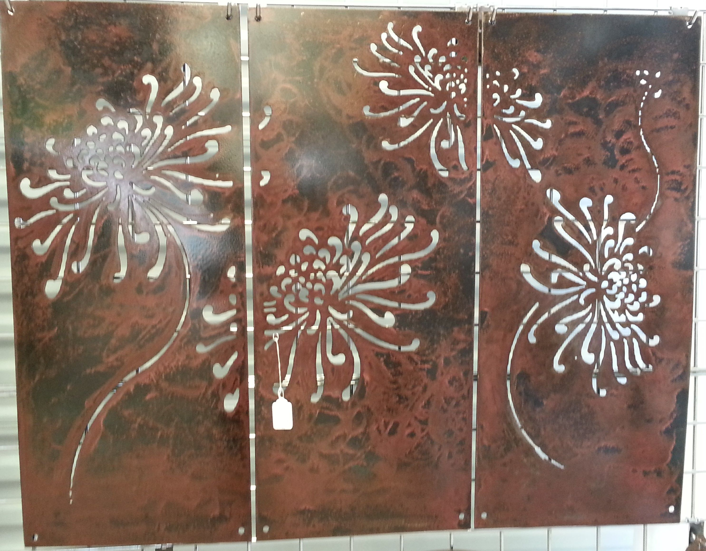 3 Pcs Dandelion Flower Panels Metal Panels Panel Art