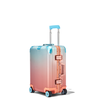 Hand Luggage By Rimowa Carry On Suitcases With 4 Wheels Polycarbonate Aluminium Suitcases Rimowa Han In 2020 Blue Suitcase Hard Shell Luggage Carry On Suitcase