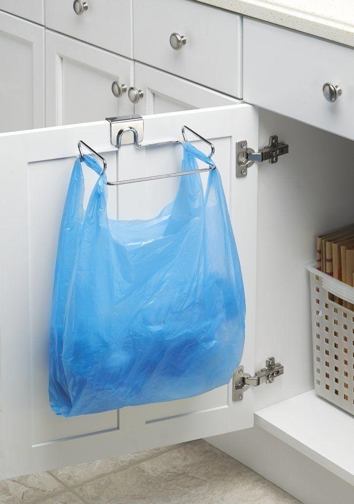 Mdesign Soporte Para Bolsas De Plástico Para Colocar Sobre Perfil De Ga Ideas De Organización De Cocina Organización De Ollas Organización De Casas Pequeñas