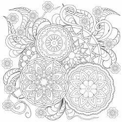 blumen oder mandala   summer coloring pages, designs coloring books, coloring pages for boys