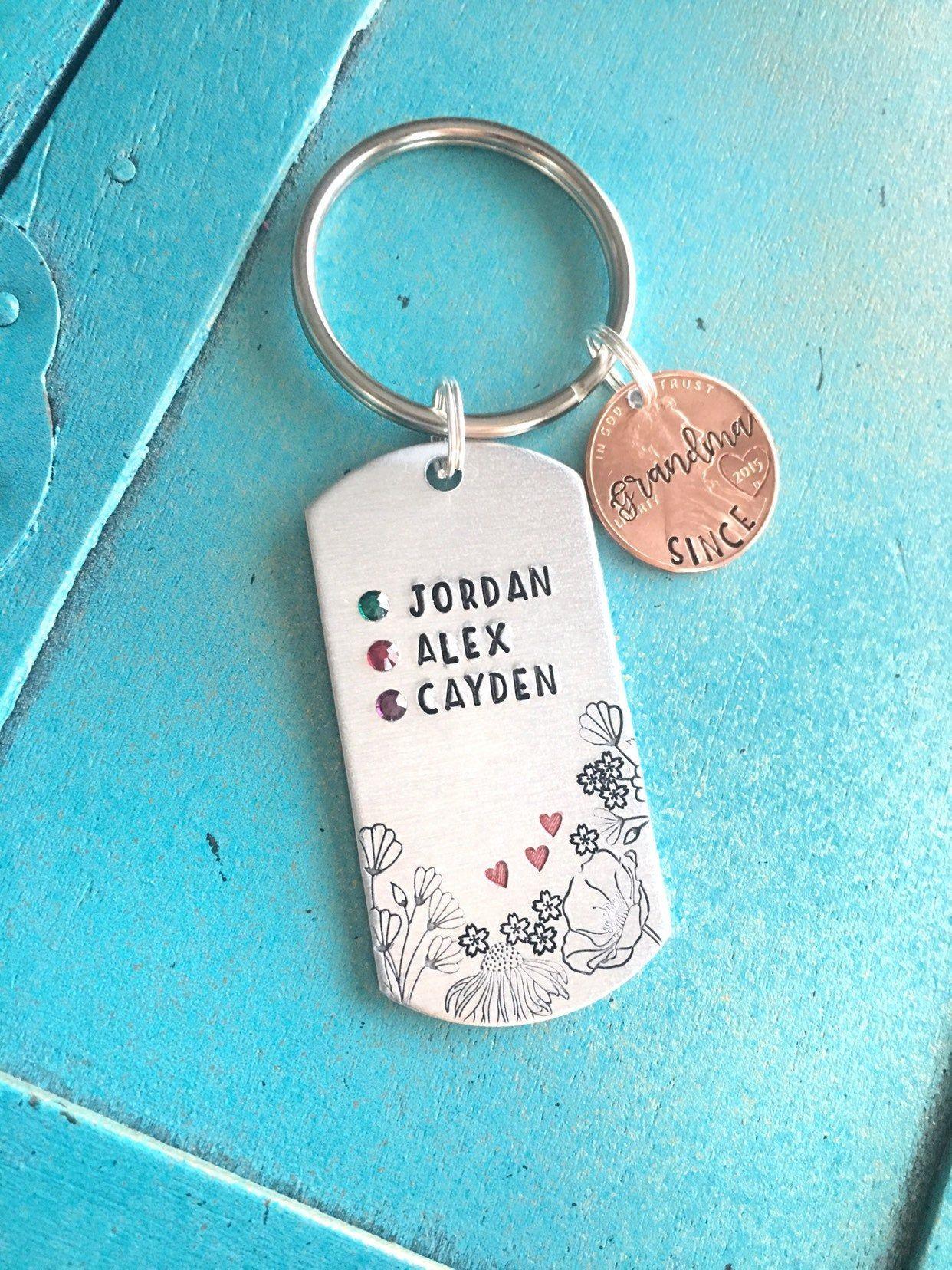 Custom birthstone mothers day gift for grandma grammy