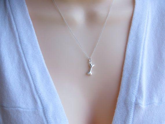 Sterling silver dog bone necklace Sterling Silver Bone Necklace