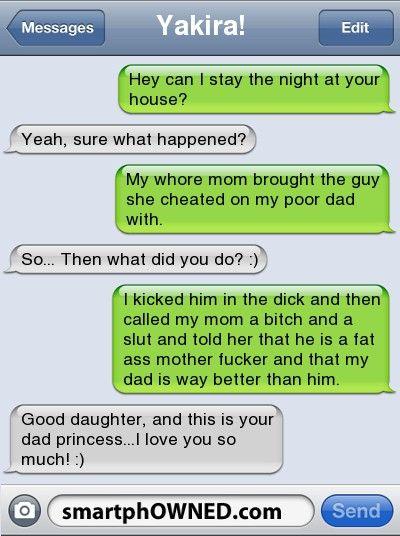 lustiger Text, zum eines Mädchens zu simsen