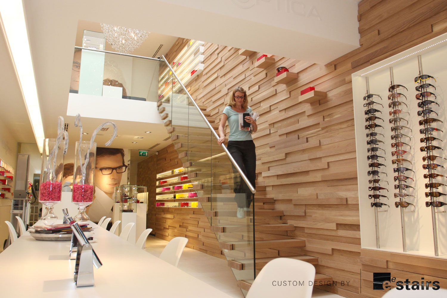 Cute Fancy Staircase For Every Moment Treatments Invisible Stairs Wooden Wall