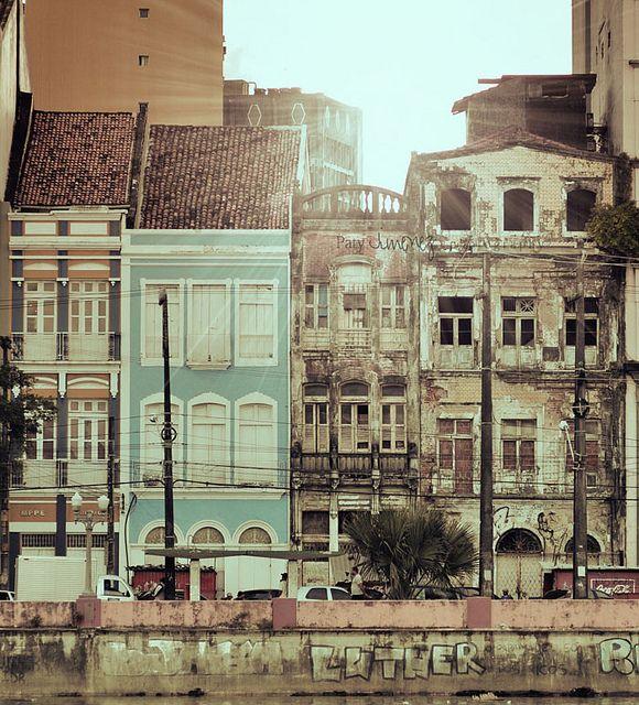 Predios Antigos Da Rua Da Aurora Centro Do Recife Brasil