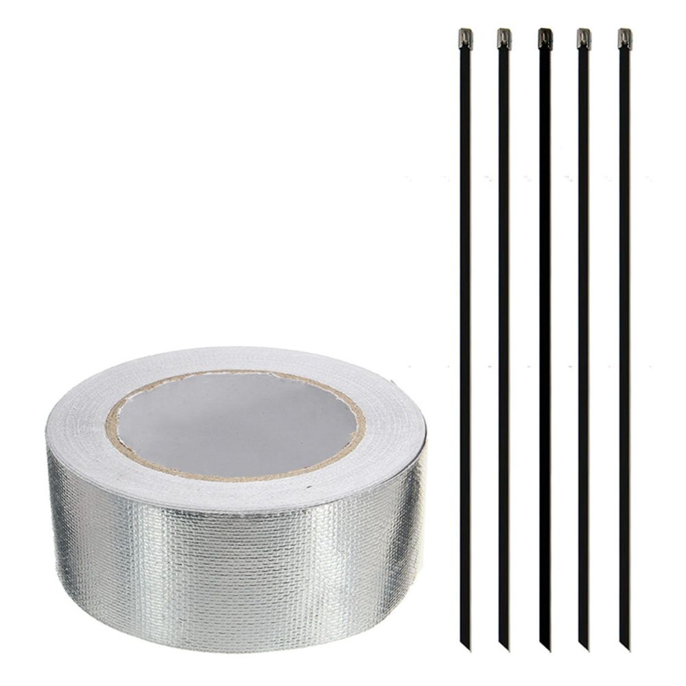 Aluminum reinforced tape heat shield adhesive backed