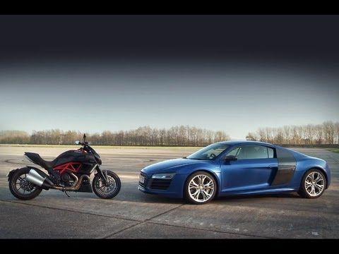 Audi R8 V10 Plus Vs Ducati Diavel 0 150 0mph Audi R8 V10 Plus