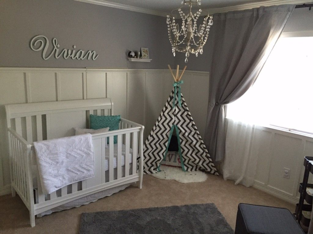 Viv\u0027s Gray and White Nursery | Project nursery, Nursery and ...