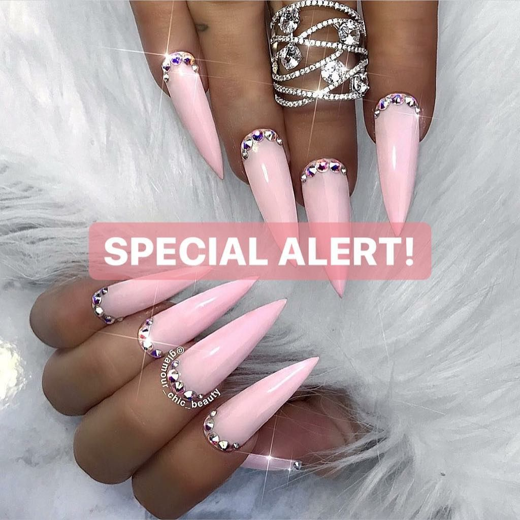 Luxury Nail Lounge On Instagram Attention 40 Gel Full Sets With Our Emerging Stylist Shona This February Luxury Nails Stiletto Nails Designs Nails