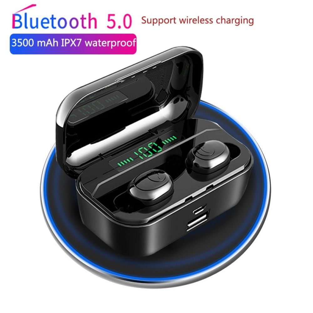 Wireless Earbuds Bluetooth 5 0 Headphones Sports In Ear Tws Stereo Mini Headset W Mic Extra Bass Ipx5 Waterproof Low Latency Instant Pairing 30h Battery Chargin Wireless Earphones Earphone Wireless Earbuds