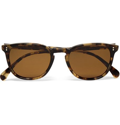 43c53cc0a03 ... Oliver Peoples sunglasses has a unique finish. These lightweight  D-frame  Finley Esq.  shades have been constructed from classic tortoiseshell  acetate ...