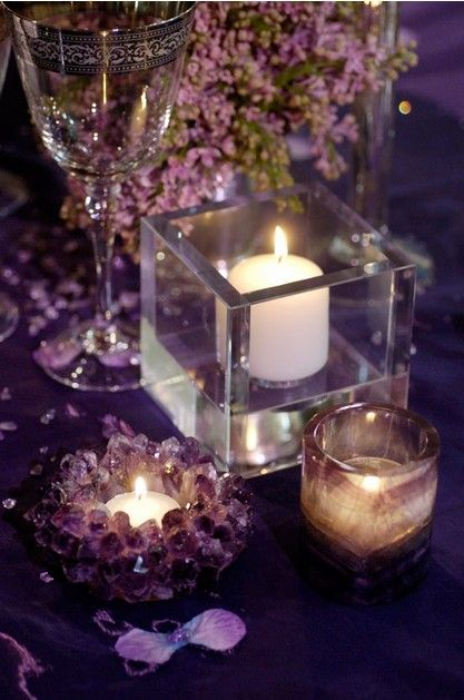 Romantic Purple Wedding Romantic Candles Candles Beautiful Candles