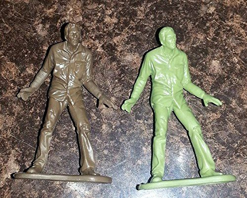 AMC - The Walking Dead Poseable Mini-Figures - 1 Green & 1 Brown Sad Statue Zombie Walkers @ niftywarehouse.com #NiftyWarehouse #WalkingDead #Zombie #Zombies #TV
