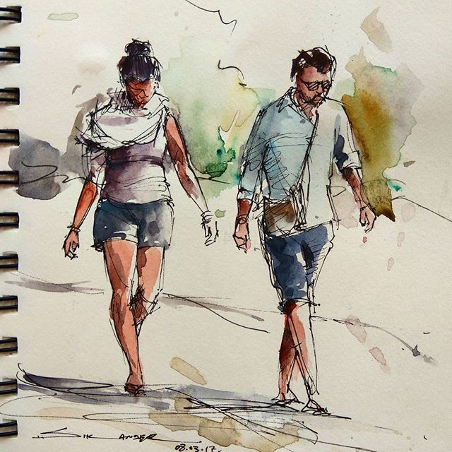 Figure Drawing Watercolorpainting Watercolor Watercolour