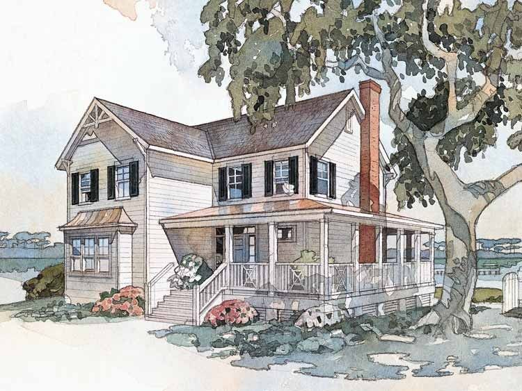 eplansfarmhousehouseplan windsongcottagefromthesouthernliving close in open to below to create third floor stairwell