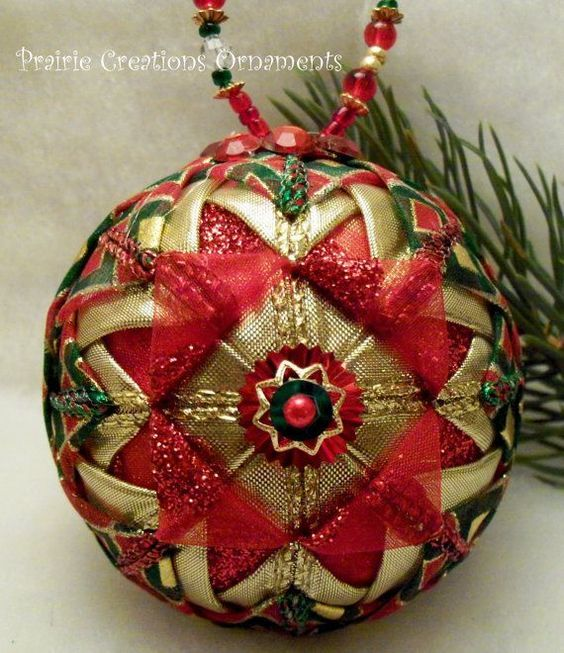 Quilted Ball Ornament Pattern | Christmas ornament | Pinterest ... : quilted xmas ornaments - Adamdwight.com