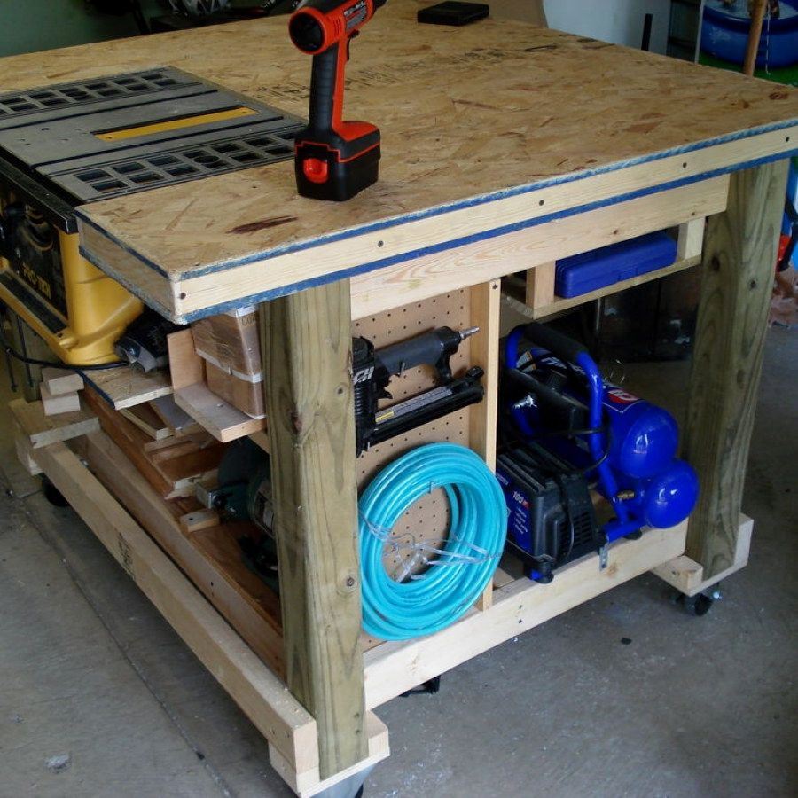 Do It Yourself Garage Workbench Plans: Woodworking Bench Plans Designs No. 711 Smart Woodworking