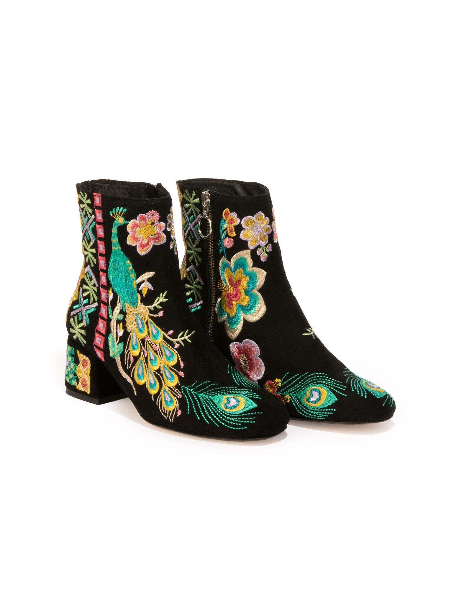 e8247bd37d99 Retro Peacock Bootie Black  johnnywas