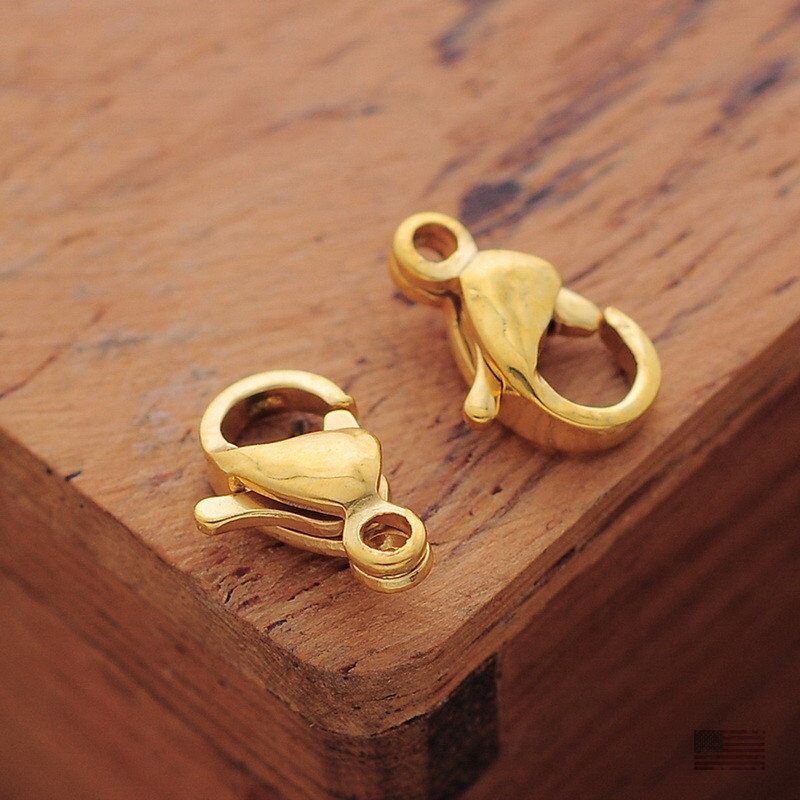 Wholesale Stainless Steel Gold Lobster Claw Clasps Findings