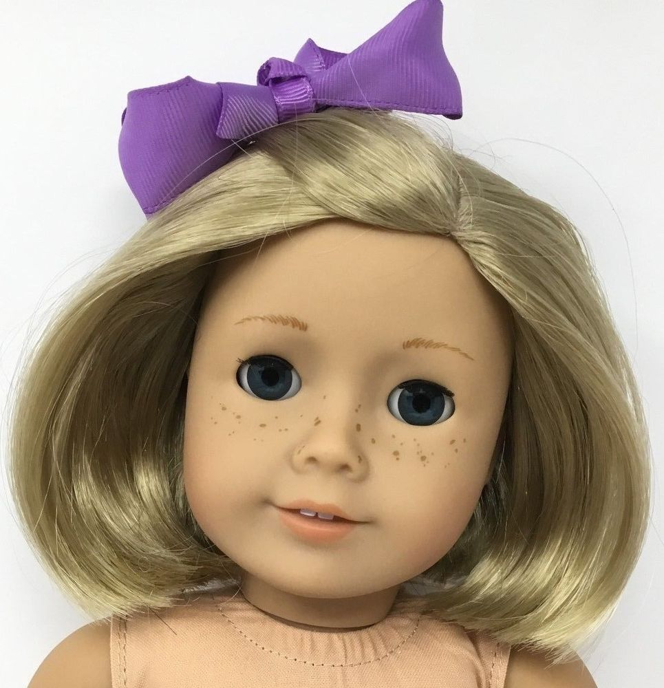 American girl doll kit blonde hair with blue eyes and freckles