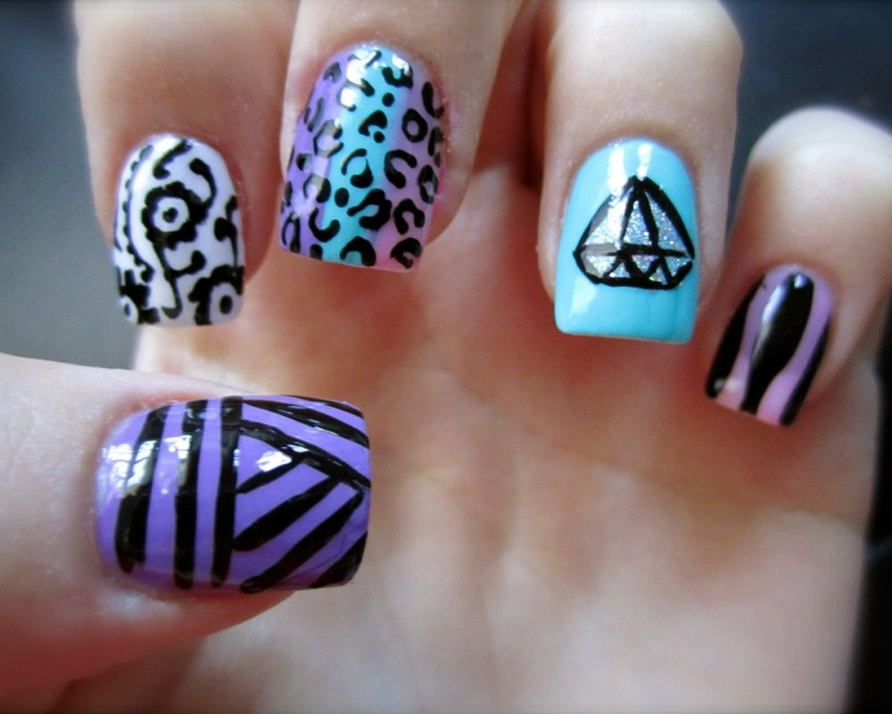 cute diamond nail designs | Diamond Nail Art | Things to Wear ...