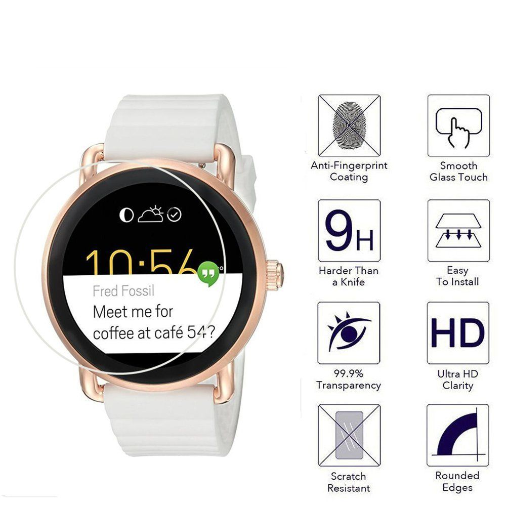 3X Fossil Q Wander Smartwatch Screen Protector Crystal