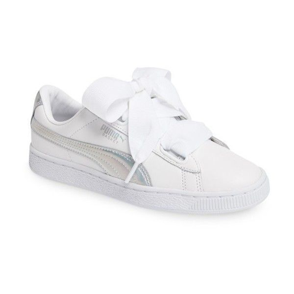 Womens Puma Basket Heart Sneaker ( 80) ❤ liked on Polyvore featuring shoes 770e76722
