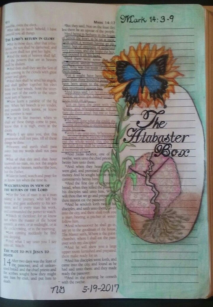 Mark 14 3 9 The Alabaster Box Bible Art Journaling Bible Artwork