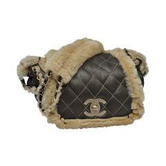 Chanel Vintage Mini Shearling Handbag '04 New