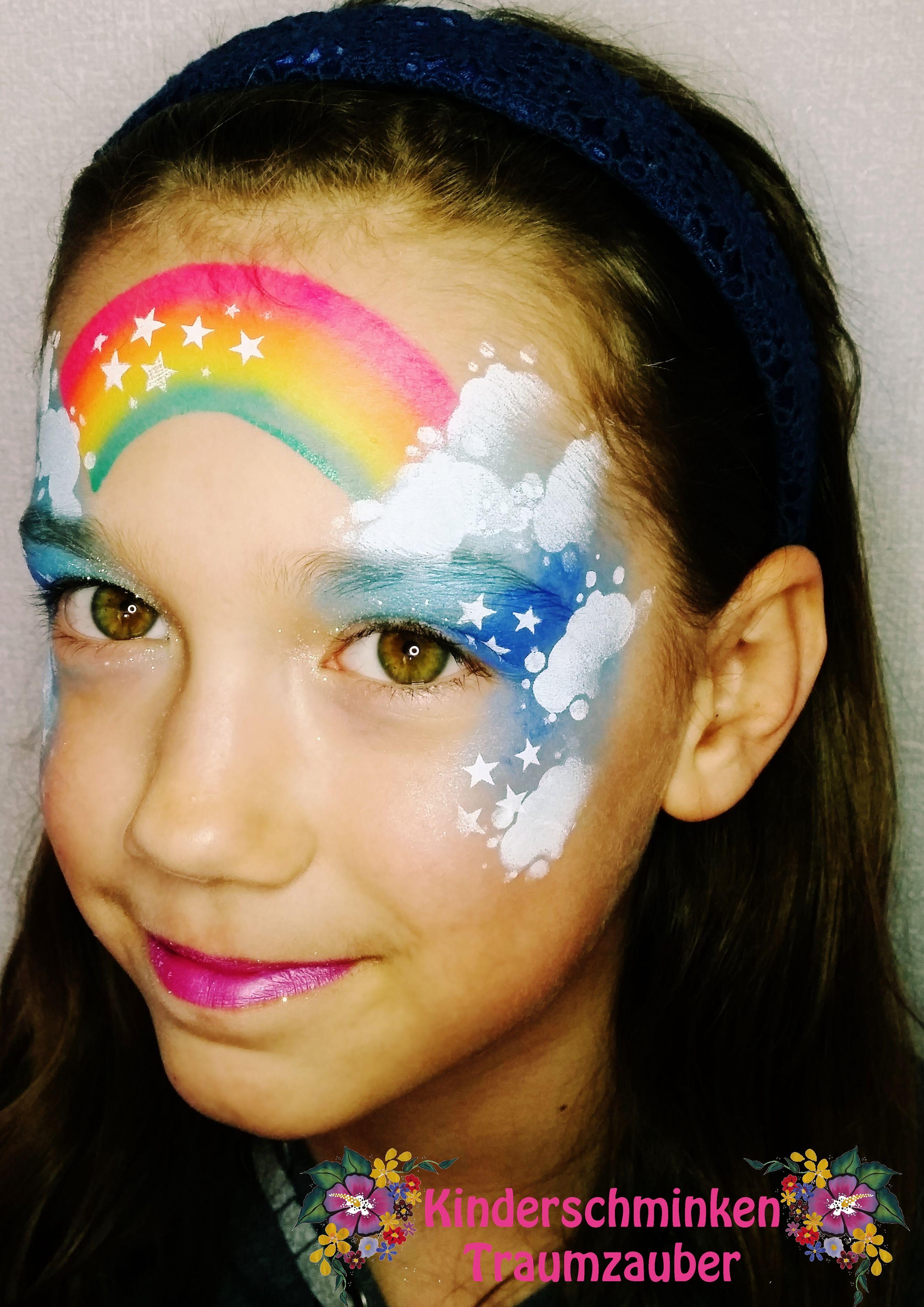 rainbow by kinderschminken traumzauber kinderschminken facepainting regenbogen rainbow. Black Bedroom Furniture Sets. Home Design Ideas