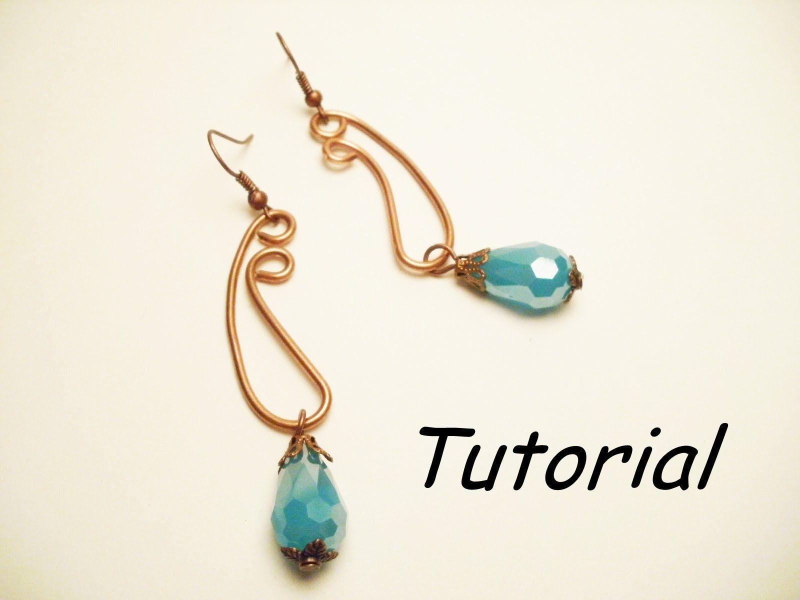TUTORIAL orecchini wire per principianti | Wire earrings TUTORIAL ...
