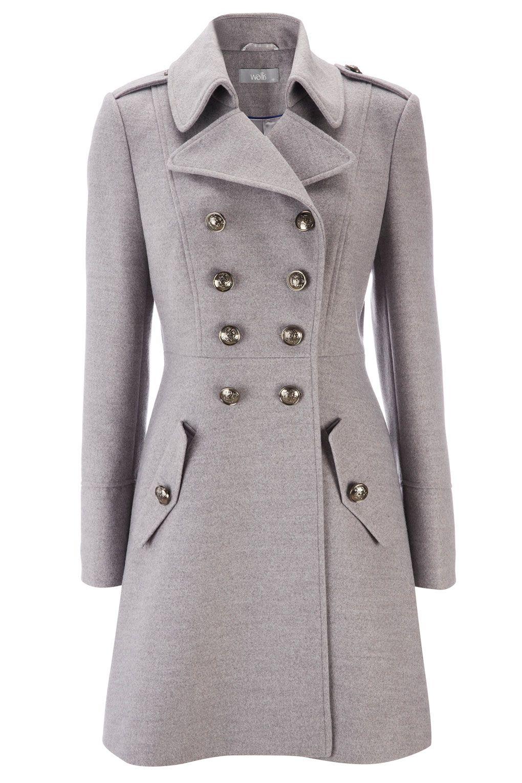 Grey Military Coat Coat Women Fashion Coat Fashion Coat [ 1530 x 1020 Pixel ]