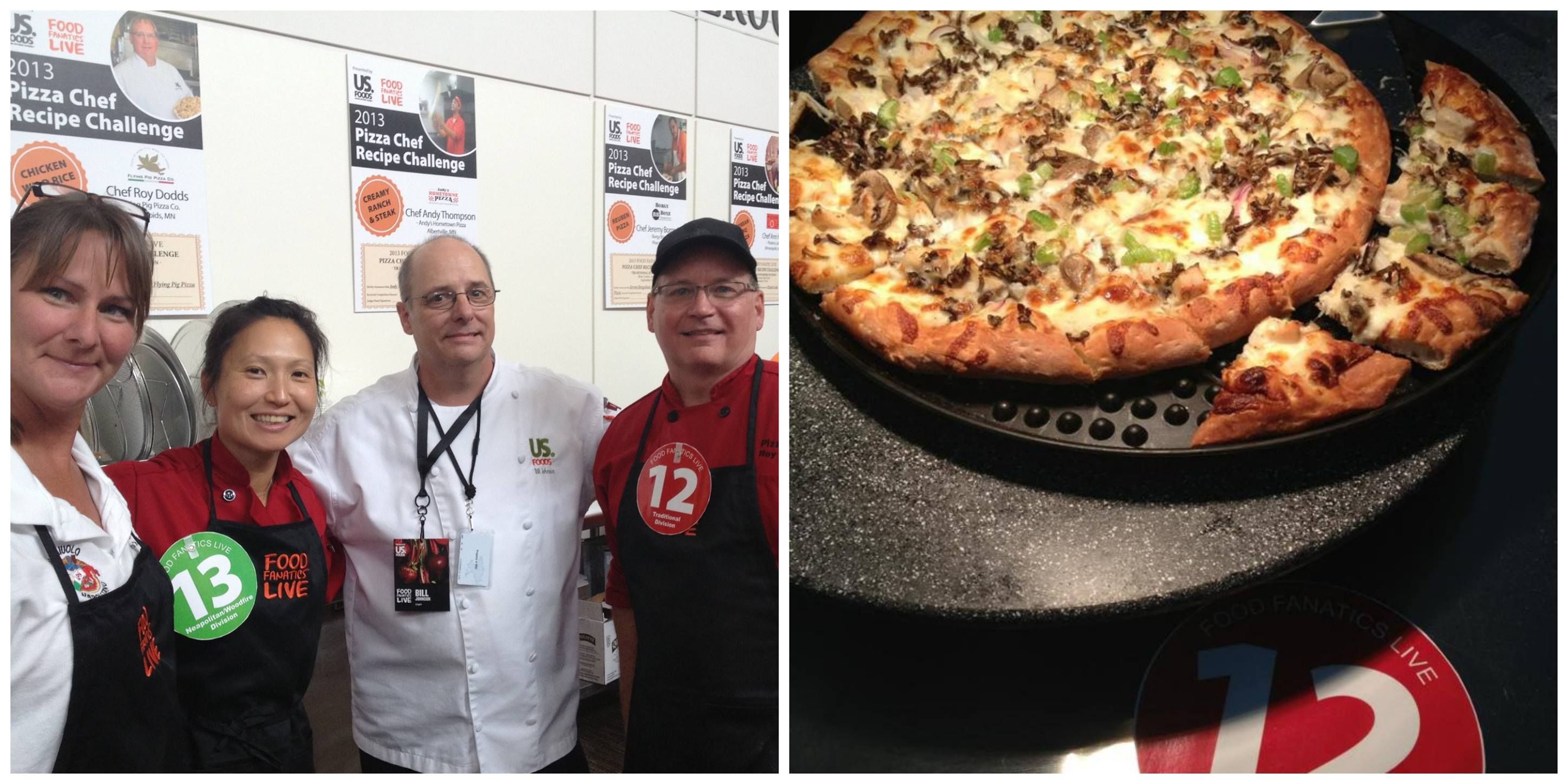 Roy won his division at the Food Fanatics Live Culinary Expo. There were two categories in the Pizza Recipe challenge: Traditional and Neapolitan/Wood fire. Roy won the traditional category, and Ann from Pizzeria Lola in MPLS won the Neapolitan/Wood fire category!!