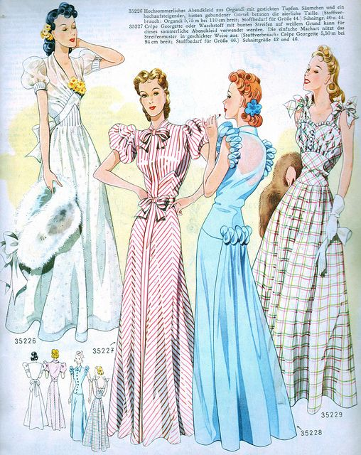 Vintage Fashion from Wiener Bunte Mode 1940 | 1940s, Note and Magazines
