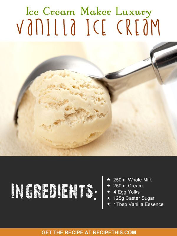 Vanilla Ice Cream Recipe For Ice Cream Maker Recipe This Recipe Ice Cream Maker Recipes Ice Cream Homemade Vanilla Ice Cream